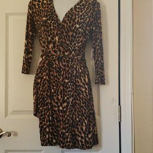 Inc international  petite leopard print dress